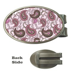 Paisley in Pink Money Clip (Oval)