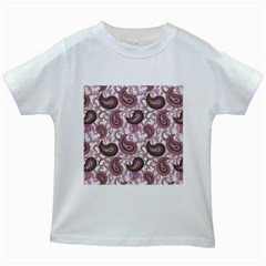 Paisley In Pink Kids T Shirt (white)