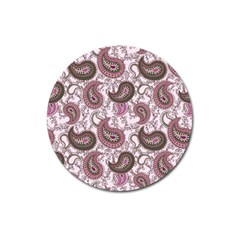 Paisley in Pink Magnet 3  (Round)