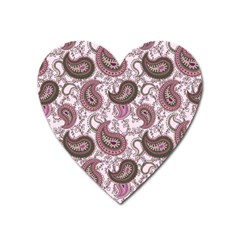 Paisley in Pink Magnet (Heart)