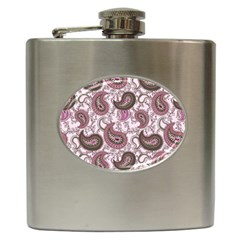 Paisley in Pink Hip Flask