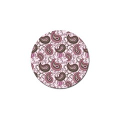 Paisley in Pink Golf Ball Marker