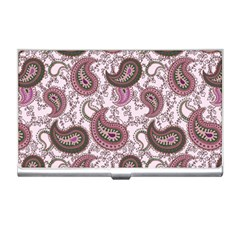 Paisley in Pink Business Card Holder