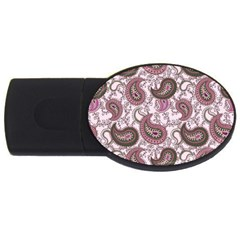 Paisley in Pink 2GB USB Flash Drive (Oval)