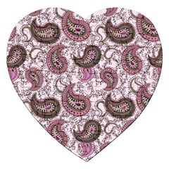 Paisley in Pink Jigsaw Puzzle (Heart)