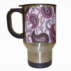 Paisley in Pink Travel Mug (White)