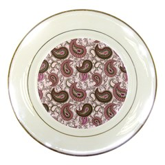 Paisley in Pink Porcelain Display Plate