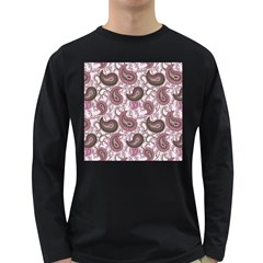 Paisley In Pink Men s Long Sleeve T Shirt (dark Colored)