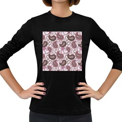 Paisley in Pink Women s Long Sleeve T-shirt (Dark Colored)
