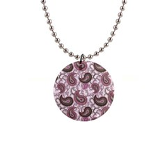 Paisley in Pink Button Necklace