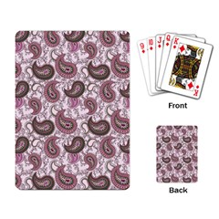 Paisley In Pink Playing Cards Single Design