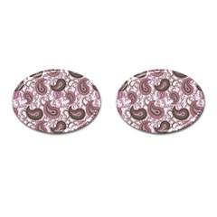 Paisley In Pink Cufflinks (oval)