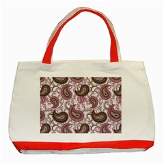 Paisley in Pink Classic Tote Bag (Red)