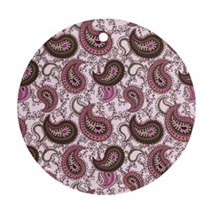 Paisley in Pink Round Ornament (Two Sides)