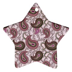 Paisley in Pink Star Ornament (Two Sides)
