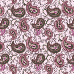 Paisley In Pink Canvas 12  X 12  (unframed)
