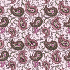 Paisley in Pink Canvas 16  x 16  (Unframed)
