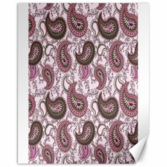 Paisley in Pink Canvas 16  x 20  (Unframed)