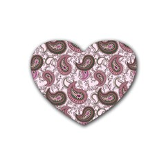 Paisley in Pink Drink Coasters (Heart)