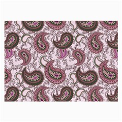 Paisley in Pink Glasses Cloth (Large, Two Sided)