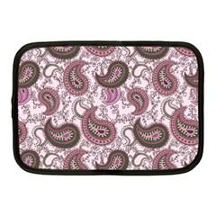 Paisley In Pink Netbook Sleeve (medium)