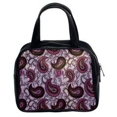 Paisley in Pink Classic Handbag (Two Sides)