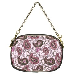 Paisley In Pink Chain Purse (one Side)