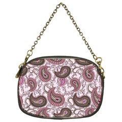 Paisley in Pink Chain Purse (Two Sided)