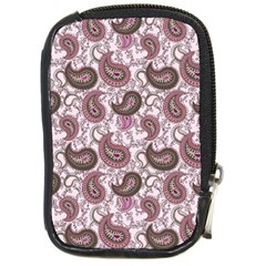 Paisley in Pink Compact Camera Leather Case