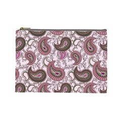 Paisley in Pink Cosmetic Bag (Large)