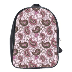 Paisley in Pink School Bag (Large)
