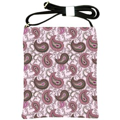 Paisley In Pink Shoulder Sling Bag