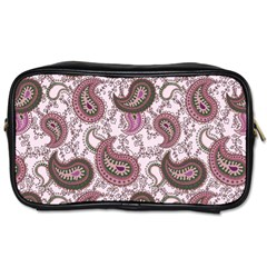 Paisley In Pink Travel Toiletry Bag (one Side)