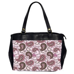 Paisley in Pink Oversize Office Handbag (Two Sides)