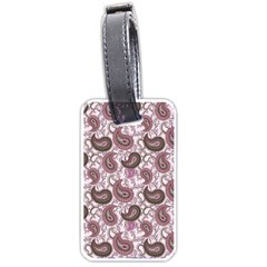 Paisley in Pink Luggage Tag (One Side)