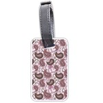 Paisley in Pink Luggage Tag (Two Sides) Back