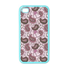 Paisley in Pink Apple iPhone 4 Case (Color)