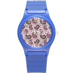 Paisley in Pink Plastic Sport Watch (Small)