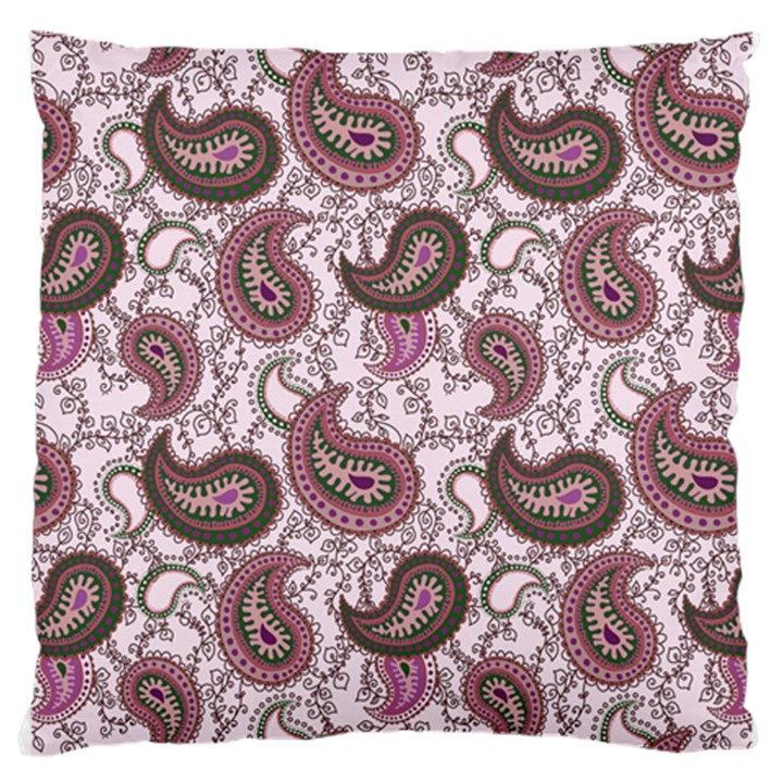 Paisley in Pink Large Cushion Case (Two Sided)