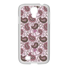 Paisley in Pink Samsung GALAXY S4 I9500/ I9505 Case (White)