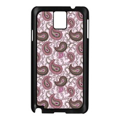 Paisley In Pink Samsung Galaxy Note 3 Case (black)