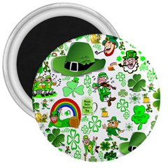 St Patrick s Day Collage 3  Button Magnet