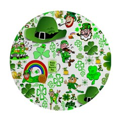 St Patrick s Day Collage Round Ornament