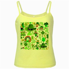 St Patrick s Day Collage Yellow Spaghetti Tank