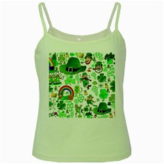 St Patrick s Day Collage Green Spaghetti Tank