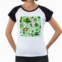 St Patrick s Day Collage Women s Cap Sleeve T-Shirt (White)