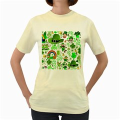 St Patrick s Day Collage Women s T-shirt (Yellow)