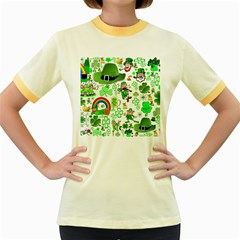 St Patrick s Day Collage Women s Ringer T-shirt (Colored)
