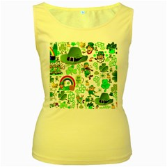 St Patrick s Day Collage Women s Tank Top (Yellow)