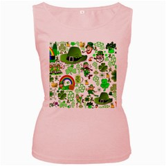 St Patrick s Day Collage Women s Tank Top (pink)